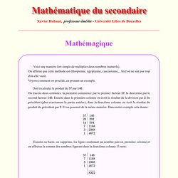 Mathémagique - Vie courante - Mathématique du secondaire