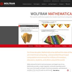 Wolfram Mathematica: Technical Computing Software—Taking You from Idea to Solution