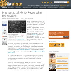 Mathematical Ability Revealed in Brain Scans