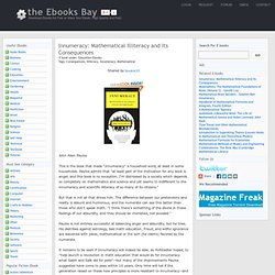 Free Innumeracy: Mathematical Illiteracy and Its Consequences Book Download, Ebook Torrent for Free, 54826