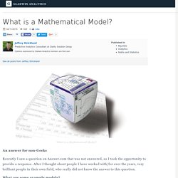 What is a Mathematical Model?