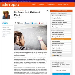 Mathematical Habits of Mind