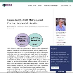 Embedding the CCSS Mathematical Practices into Math Instruction