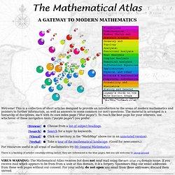 Mathematical Atlas: A gateway to Mathematics