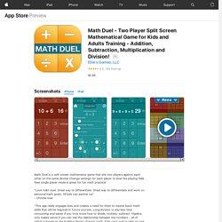 Math Duel - Two Player Split Screen Mathematical Game for Kids and Adults Training - Addition, Subtraction, Multiplication and Division! on the AppStore