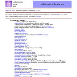 Mathematical Publishers