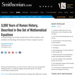3,000 Years of Human History, Described in One Set of Mathematical Equations