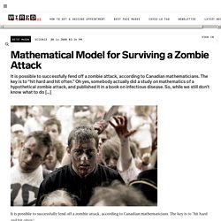 Mathematical Model for Surviving a Zombie Attack | Wired Science