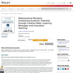 Mathematical Mindsets: Unleashing Students' Potential through Creative Math, Inspiring Messages and Innovative Teaching - Jo Boaler, Carol Dweck