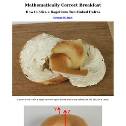 Mathematically Correct Breakfast -- Mobius Sliced Linked Bagel