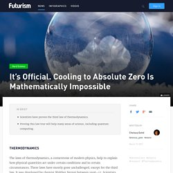 It's Official. Cooling to Absolute Zero Is Mathematically Impossible