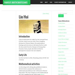 Liu Hui - Mathematician Biography, Facts and Pictures