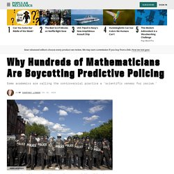 Mathematicians Boycott Police Work