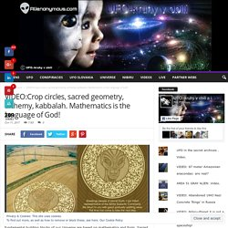VIDEO:Crop circles, sacred geometry, alchemy, kabbalah. Mathematics is the language of God! - Alienonymous