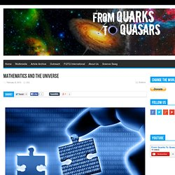 Mathematics and the Universe