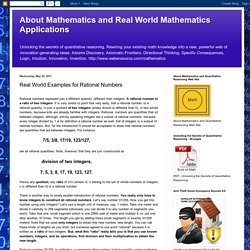 Real World Examples for Rational Numbers