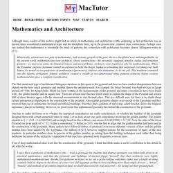 Mathematics and Architecture - MacTutor History of Mathematics