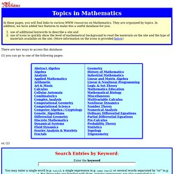Topics in Mathematics