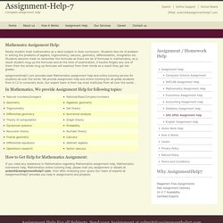 Math Homework - AssignmentHelp7