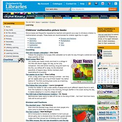 Children's picture books that teach mathematics concepts