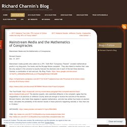Mainstream Media and the Mathematics of Conspiracies