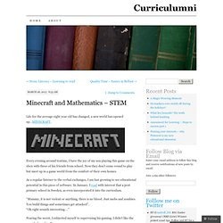 Minecraft and Mathematics – STEM