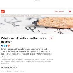 Mathematics degree career options