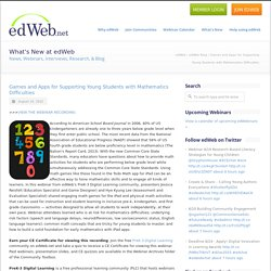 Games and Apps for Supporting Young Students with Mathematics Difficulties