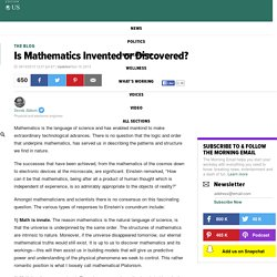 Is Mathematics Invented or Discovered?