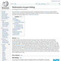 Mathematics of paper folding