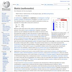 Matrix (mathematics)