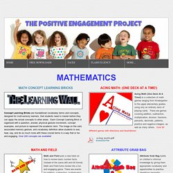 Mathematics -    THE POSITIVE ENGAGEMENT PROJECT