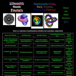 Mathematics Fun, Fact, Fiction, Function, Fantasy