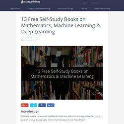 13 Free Self-Study Books on Mathematics, Machine Learning & Deep Learning