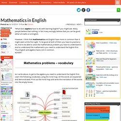 Mathematics in English