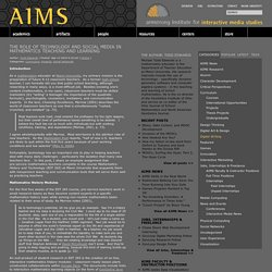 The Role of Technology and Social Media in Mathematics Teaching and Learning « Armstrong Institute for Interactive Media Studies