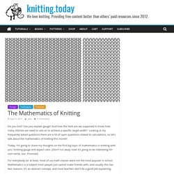 The Mathematics of Knitting, Part 1: Gauge and Aspect Ratio - knitting.today
