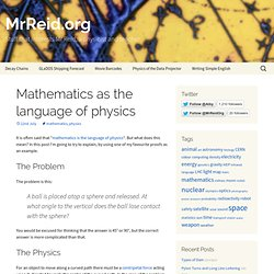 Mathematics as the language of physics