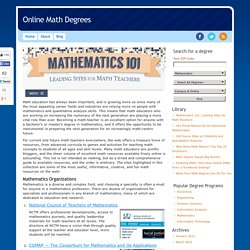 Mathematics 101: Leading Sites for Math Teachers