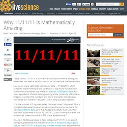 The Amazing Mathematics of Nov. 11, 2011