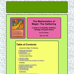 The Mathematics of Magic: The Gathering