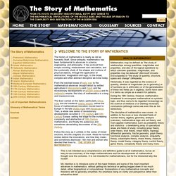 The Story of Mathematics - A History of Mathematical Thought from Ancient Times to the Modern Day