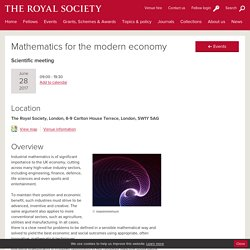 Mathematics for the modern economy