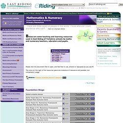 Mathematics & Numeracy - Primary Numeracy - Primary Resources
