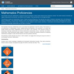 ACARA Work Samples - Mathematics proficiencies