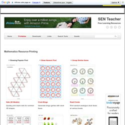 Free Mathematics Printables