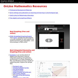 Free Mathematics Resources OnLine