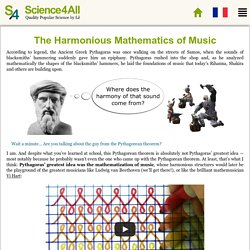 The Harmonious Mathematics of Music