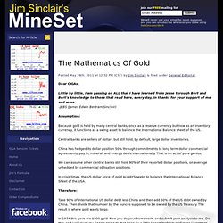 The Mathematics Of Gold | JSMineset