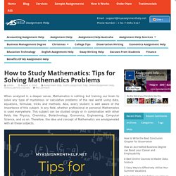 How to study Mathematics: Tips for solving Mathematics problems